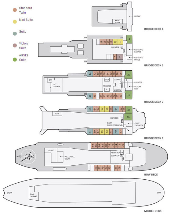 50 years of victory deck plan