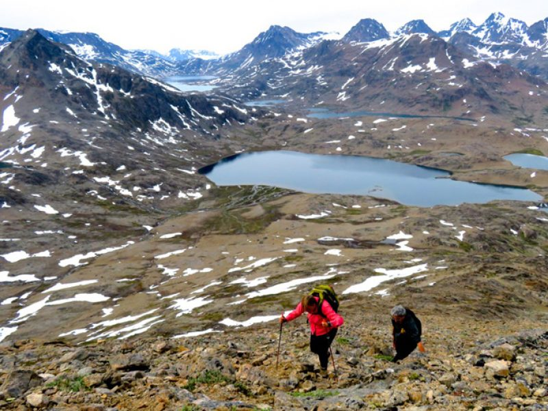 east greenland trekking up seamans mountain ch
