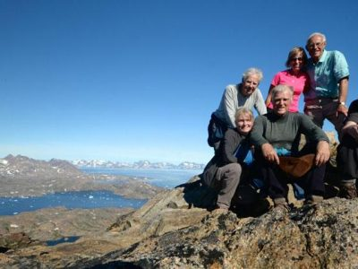 greenland hiking group on summit of seamans mountain cathy harlow
