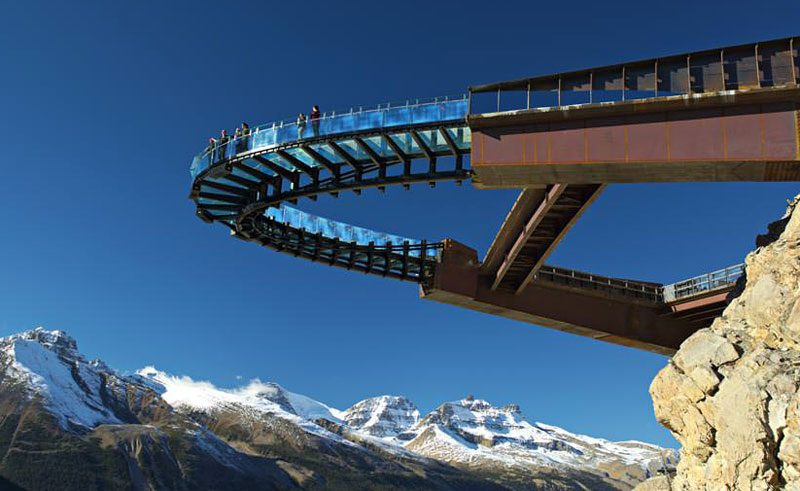 glacier skywalk canada rockies alberta