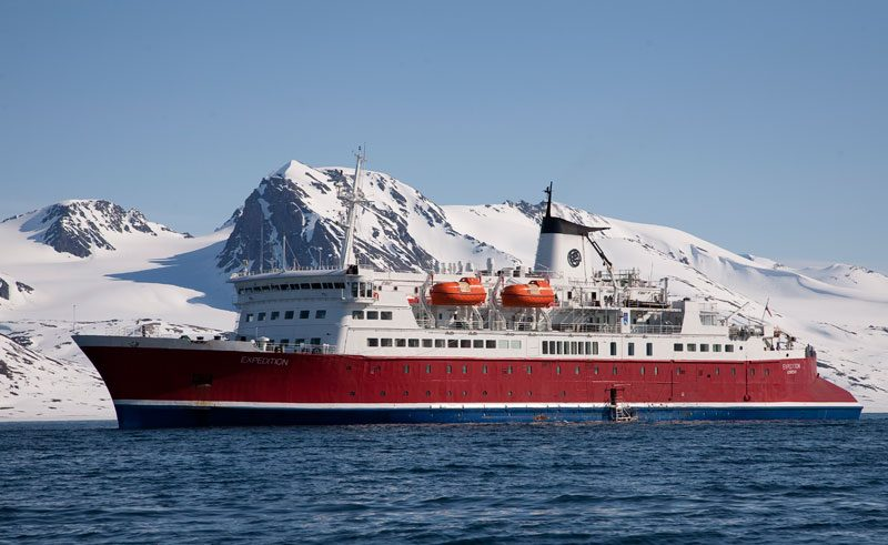 arctic spitsbergen ms expedition polar voyage ship