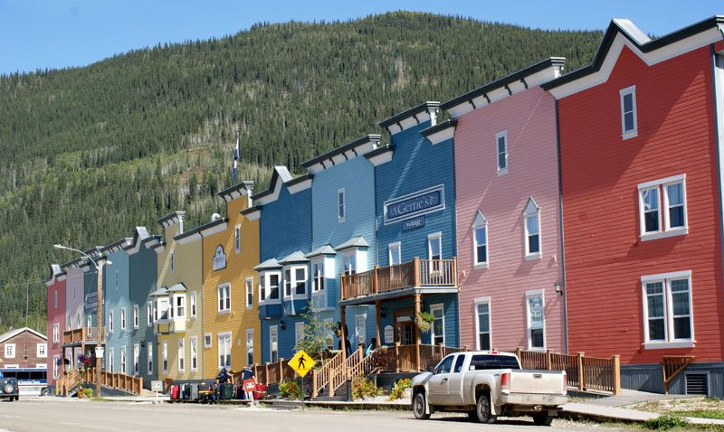 dawson city buildings yukon canada