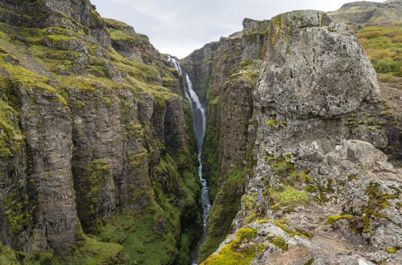 iceland west glymur waterfall