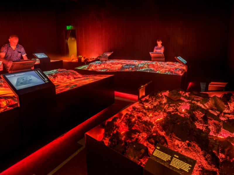 iceland lava centre interactive exhibit