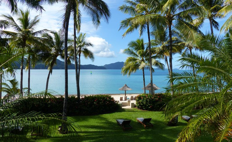 view from balcony at beach club hotel hamilton island whitsundays queensland australia
