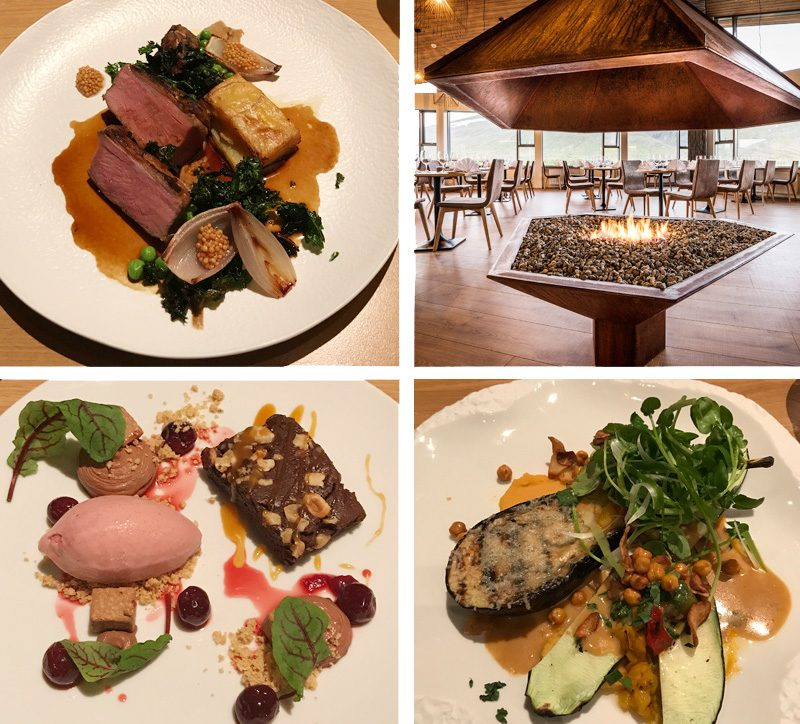 hotel husafell food courses montage