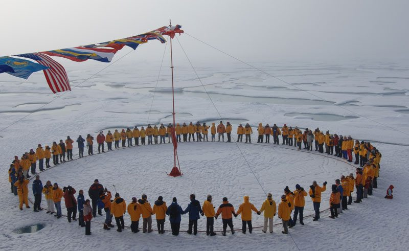 arctic north pole circle qe