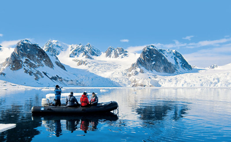 arctic spitsbergen cruise by zodiac calm water pq