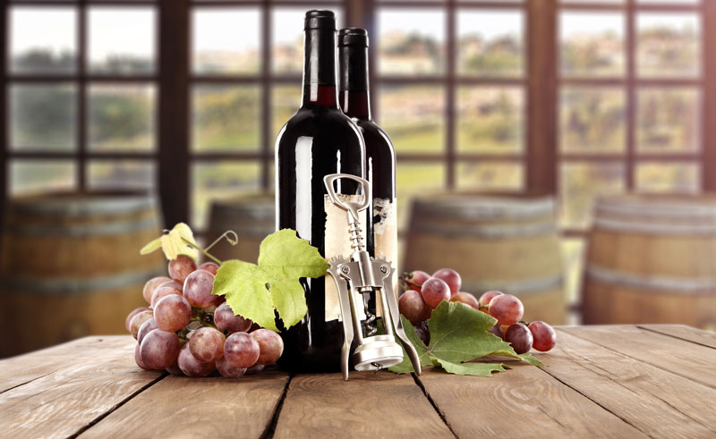 australia generic red wine and grapes adstk