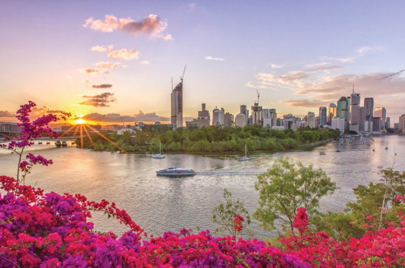 australia queensland brisbane skyline