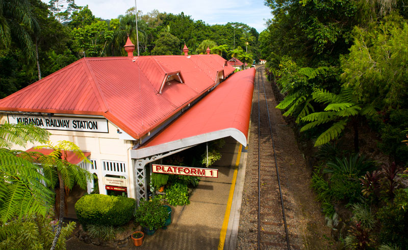 australia queensland kuranda railway station is