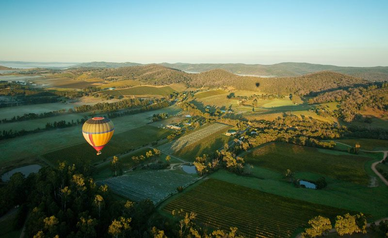australia victoria yarra valley hot air balloon tv