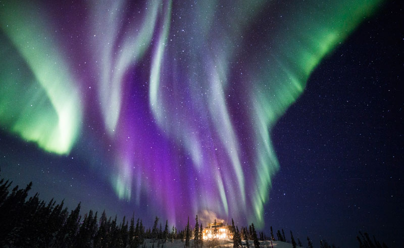 blachford lake lodge northern lights, canada