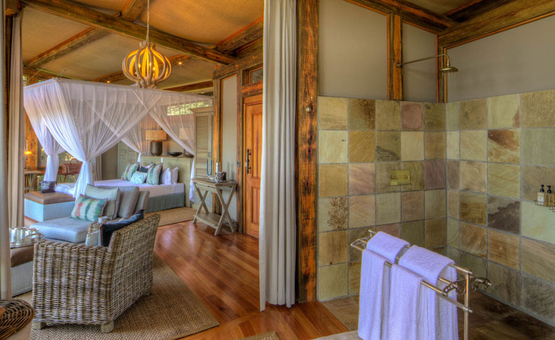 camp okavango bathroom