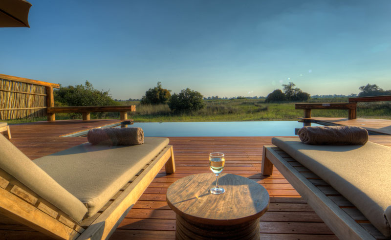 camp okavango pool