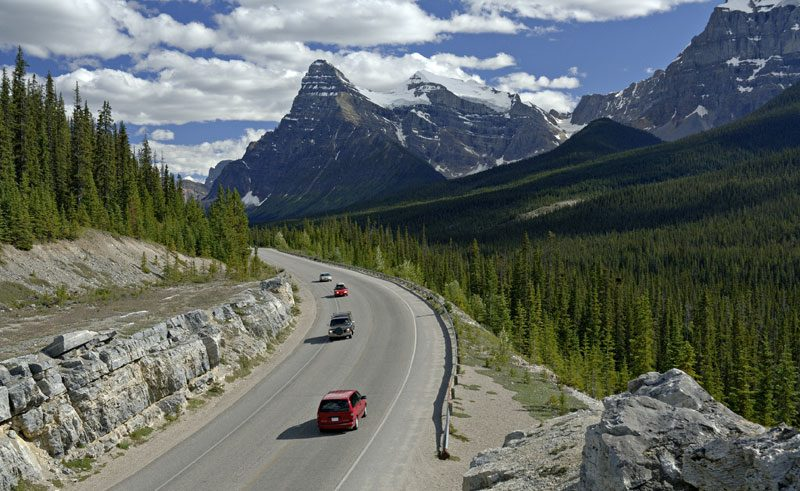 canada alberta icefields parkway scenic drive ta