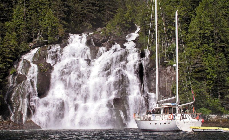 canada bc great bear rainforest odyssey waterfall bct