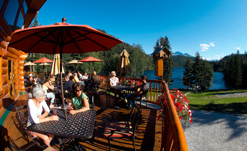 canada bc tyax lodge outside deck