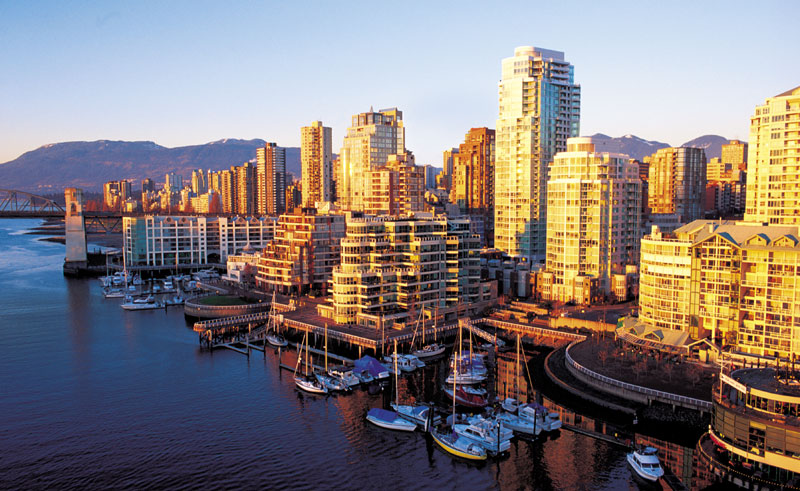 canada bc vancouver city sunset bct