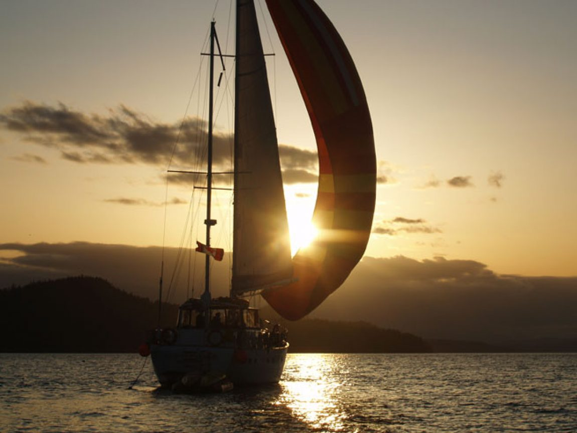 canada british columbia haida gwaii islands sailing sunset ba