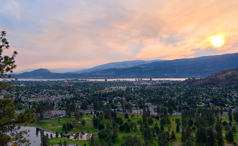 canada british columbia kelowna sunset istk