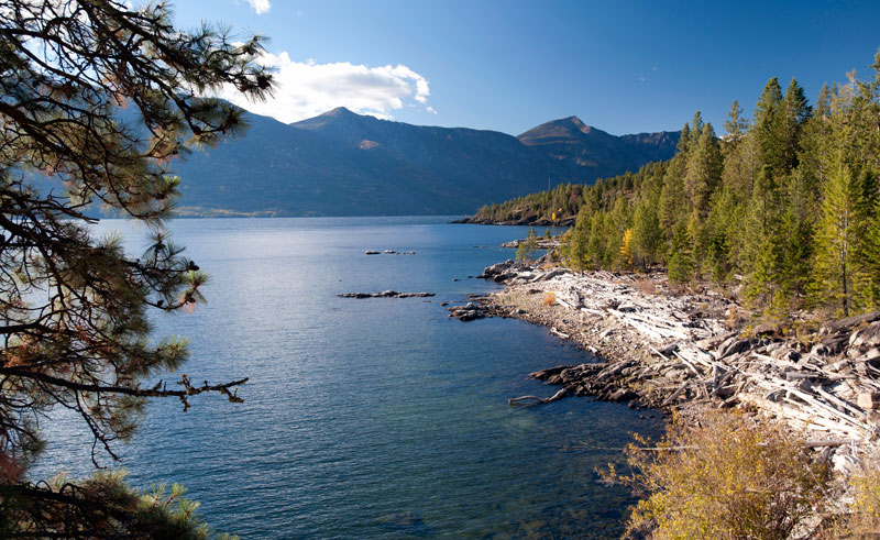 canada british columbia kootenay lake and mountains istk