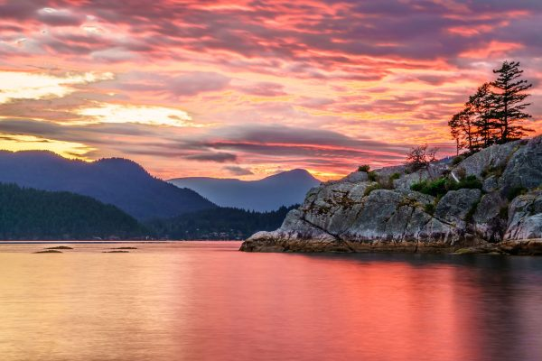 canada british columbia vancouver island sunset adstk