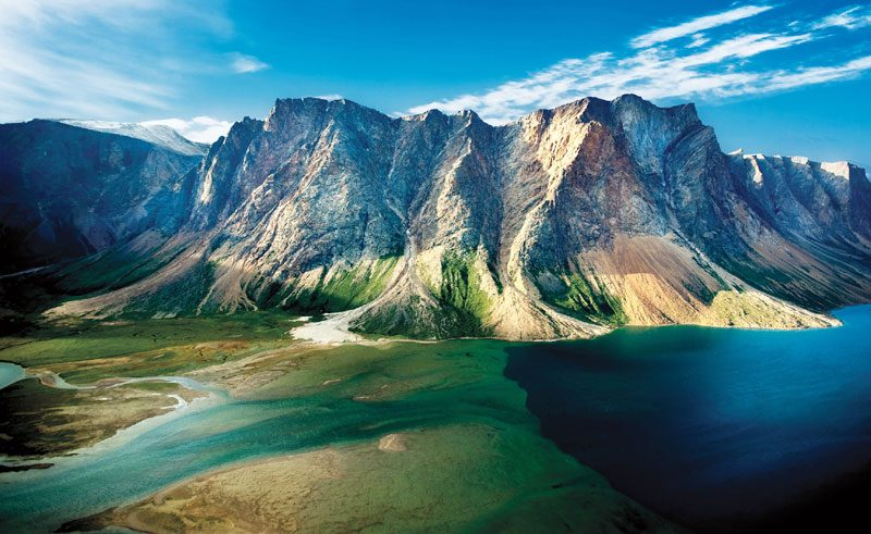 canada labrador torngat mountains aerial view oo