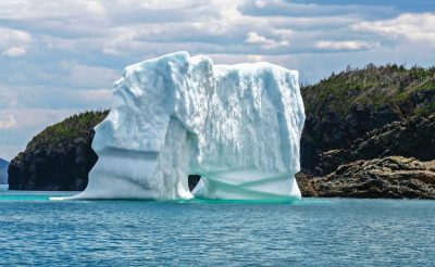 canada newfoundland and labrador iceberg near triton island green bay