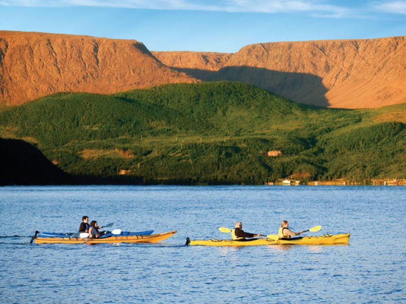 canada newfoundland gros morne tablelands sea kayaking oo