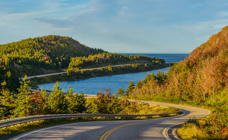 canada nova scotia cabot trail winding road istock