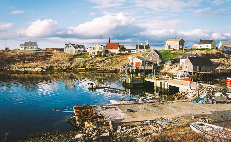 canada nova scotia peggys cove jetty ac