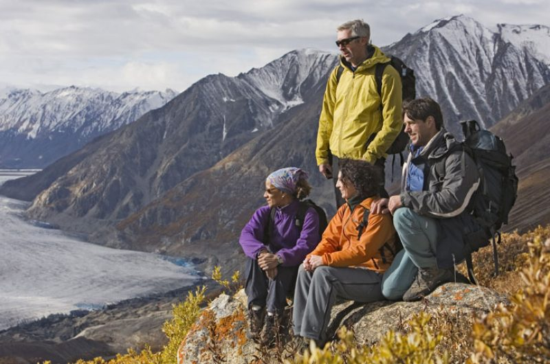 canada yukon kluane national park hikers ty