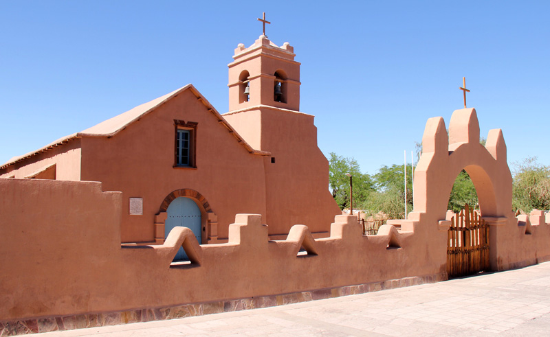 chile atacama church of san pedro de atacama is