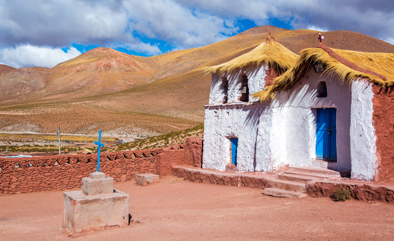 chile atacama machuca church is