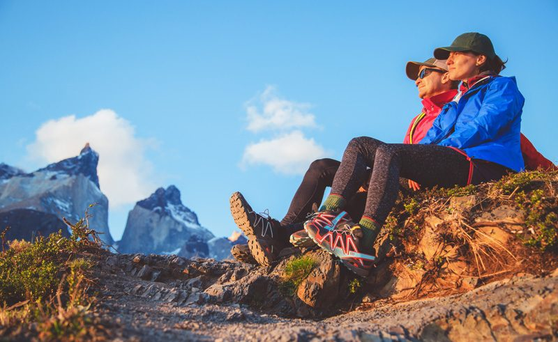 chile patagonia torres del paine hikers is