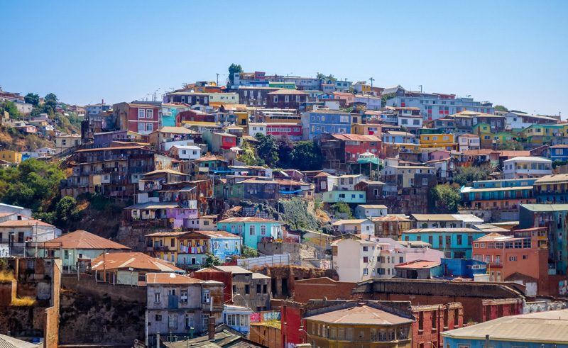 chile valparaiso cityscape is