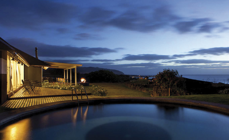 easter island altiplanico pool at night
