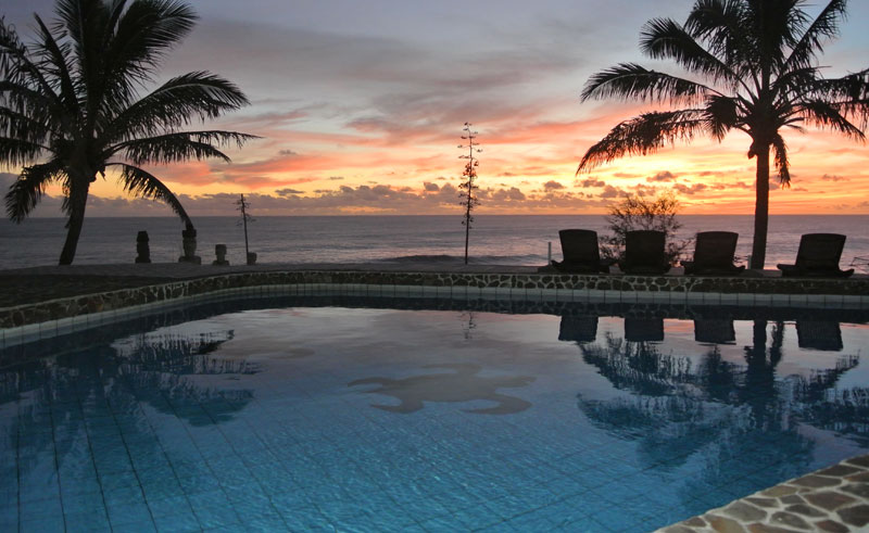 easter island iorana pool sunset