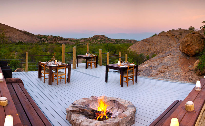 erongo wilderness dining and sunset