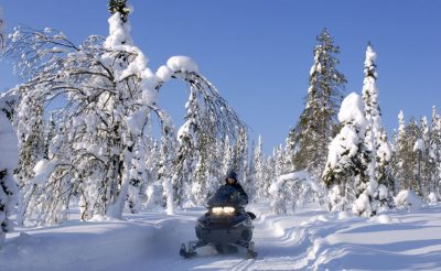 finland lapland iso syote snowmobile