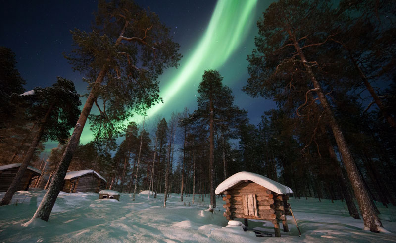 finland lapland muotka northern lights