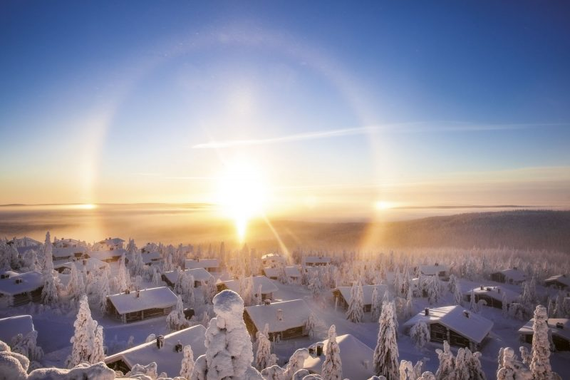 finland lapland view across iso syote