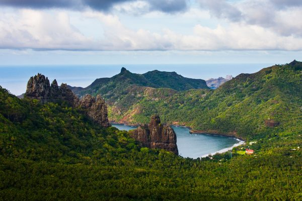 french polynesia marquesas islands view aran