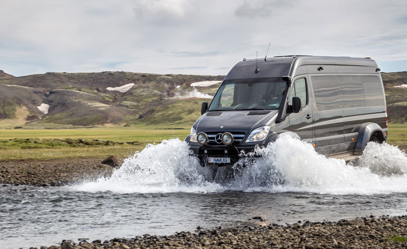 iceland 4wd mercedes supertruck river crossing gg