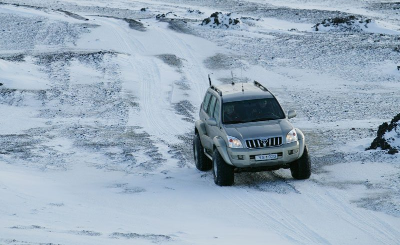 iceland highlands superjeep on glacier rth