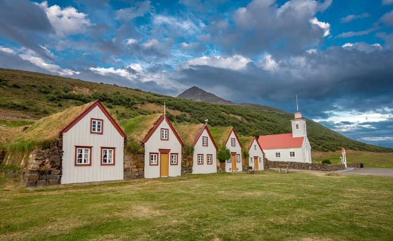iceland north east eyjafjordur laufas church rth