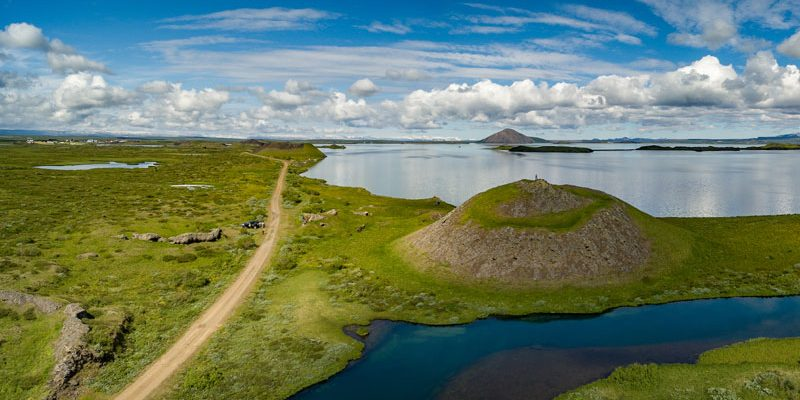 iceland north lake myvatn pseudo craters rth