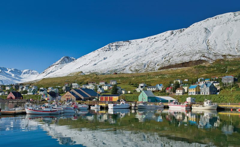 iceland north siglufjordur town rth