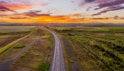 iceland open roads in summer rith